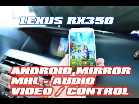 LEXUS RX350 Video Audio via MHL Android by VAIS and AutoToys com (iVIC-6D  Ivic-Port))