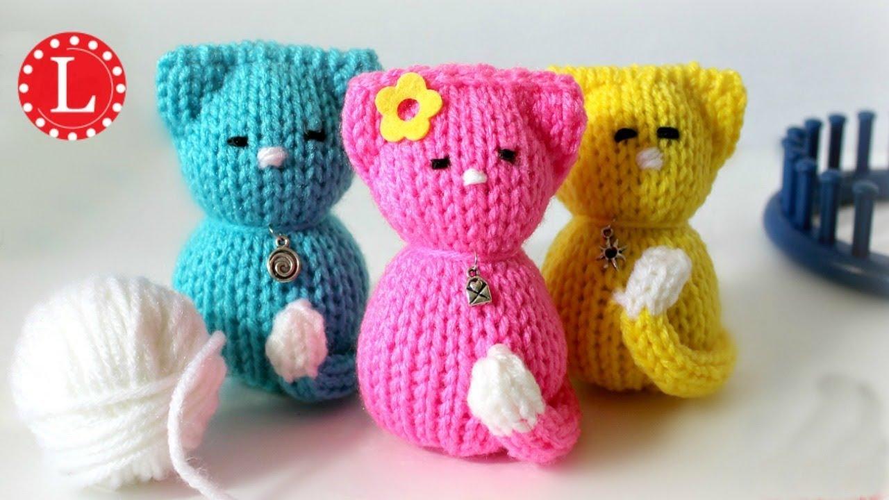 LOOM KNIT Cat Kitty Doll (Round Loom) | Strickring | Tejer a Telar ...