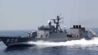 時速70㎞ ミサイル艇 高速航行&赤外線デコイ発射 2014舞鶴展示訓練