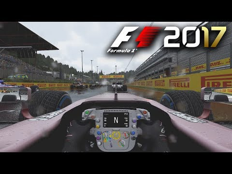 F1 2017 GAMEPLAY: Safety Car in a Wet Race!