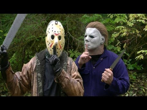 Halloween Costume Jason Friday 13th.Jason Voorhees Michael Myers Talk Friday The 13th Vs Halloween