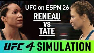 UFC On ESPN 26 - Miesha Tate Vs Marion Reneau - EA Sports UFC 4 Simulation (CPU Vs CPU)