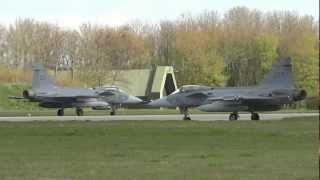 NATO Frisian Flag - awesome mass launch and recovery of Vipers, Typhoons, Gripens & Hornets