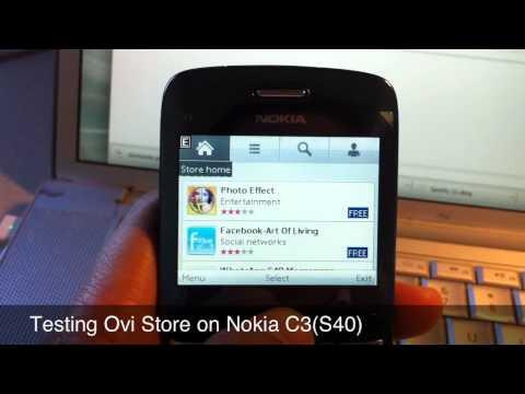 Ovi store on Nokia C3