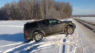 Nissan Pathfinder R51 winter off road lights