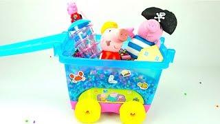 Коробка игрушек и сюрпризов свинка пеппа