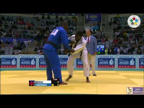Judo 2013 World Championships Rio de Janeiro: Deprez (HAI) - Sandango (ANG) [-73kg]