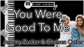 You Were Good To Me - Jeremy Zucker & Chelsea Cutler - Piano Karaoke
