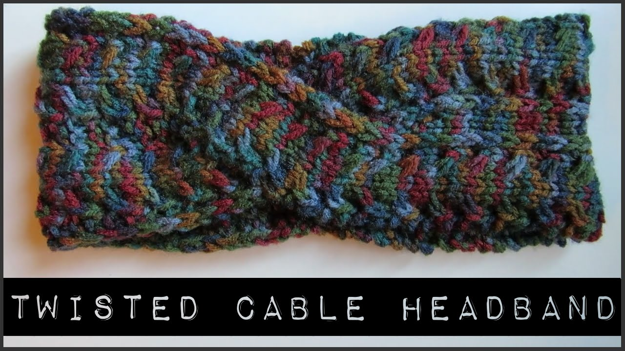 How to Knit a Twisted Cable Headband - YouTube