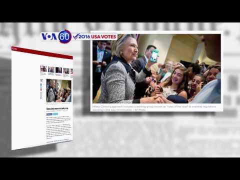 Manchetes Americanas 25 Agosto: Donald Trump e Hillary Clinton taco-a-taco