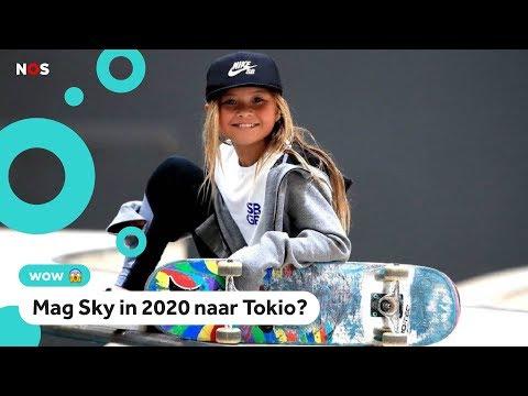 Skater Sky (10) wordt misschien één van de jongste Olympiërs ooit