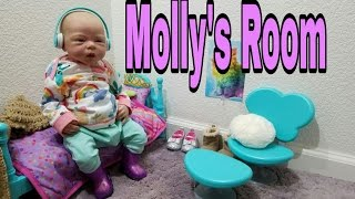 MOLLY'S Bedroom Haul And Tour! MISCHIEVOUS Talking Reborn Baby Doll! Toy Doll! Nlovewithreborns2011