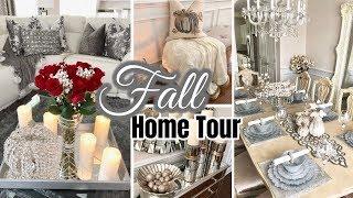 2018 Fall Home Tour!   Glam Fall Decor   Living Room & Dining Room