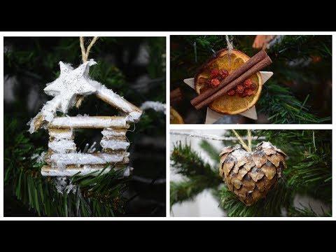 Эко-игрушки - как сделать эксклюзивные украшения на ёлку