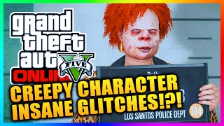 GTA 5 Online - Insane & Creepy Character Glitches! Changing Colors, Deformed Faces & MORE! (GTA V)