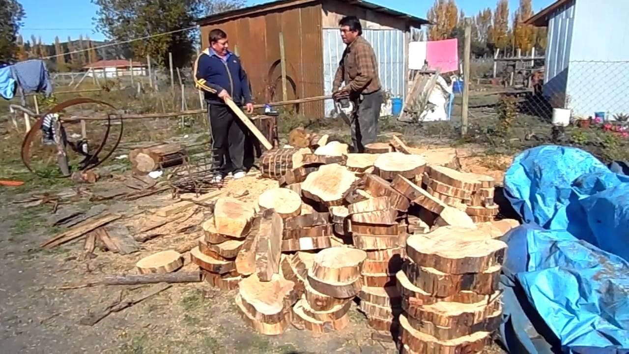 Corte troncos para pisos y muros youtube - Casas de troncos redondos ...