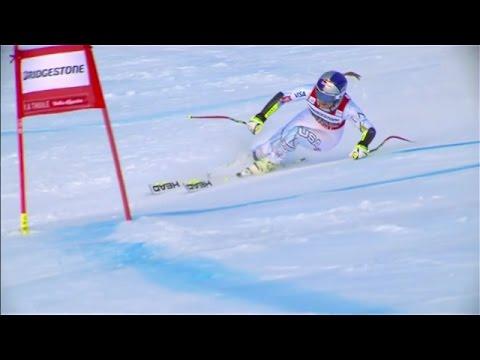 Lindsey Vonn 3rd Place - Super G - La Thuile 2016