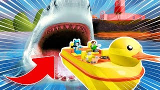 WE ATTACK A MEGALODONI! WE ESCAPE THE ROBLOX GIANT TIBURON 💙💚💛 BE BE BE BE BE BE BE BE BE CALLED MY VITA AND ADRI 😍 AMIWITOS