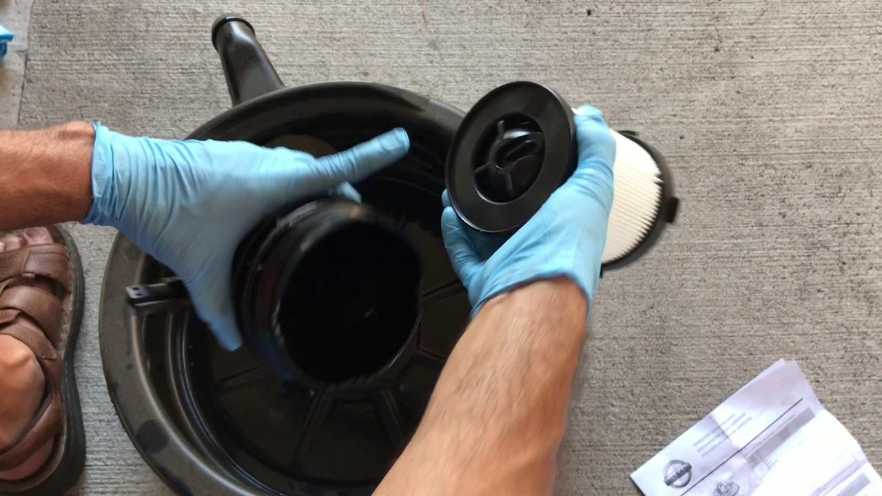 medium resolution of 2016 nissan titan xd cummins diesel fuel filter change