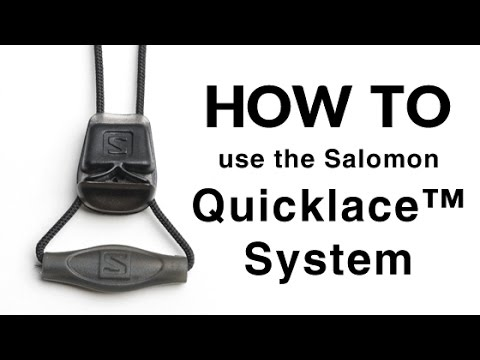 Salomon Quicklace System How It To Use Youtube aU8Uxr