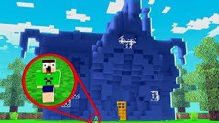 FIZ UMA CASA TODA AZUL - Desafio da Cor ( Minecraft )