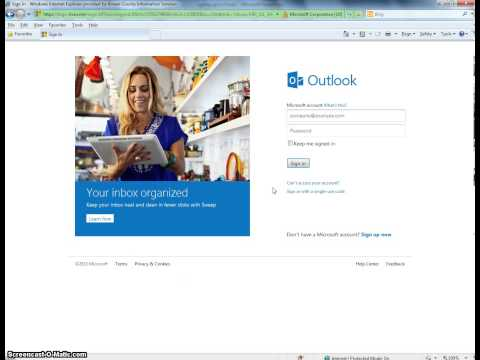 Introduction to Email - Signing Up for an Outlook.com Account
