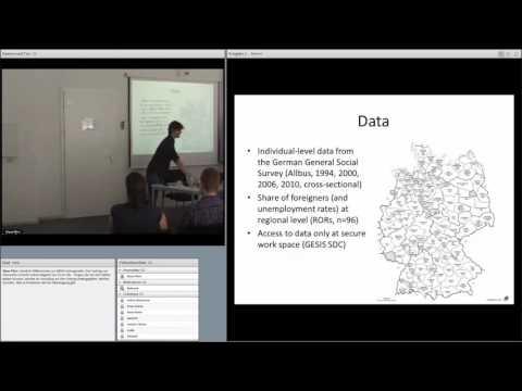 GESIS lecture series Alexander Schmidt-Catran 2016-05-07