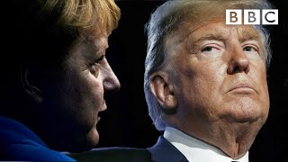 When cool Angela Merkel met fiery Donald Trump - BBC