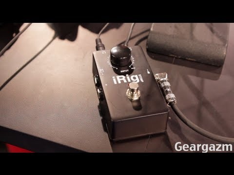 hands on irig stomp guitar pedal interface youtube. Black Bedroom Furniture Sets. Home Design Ideas