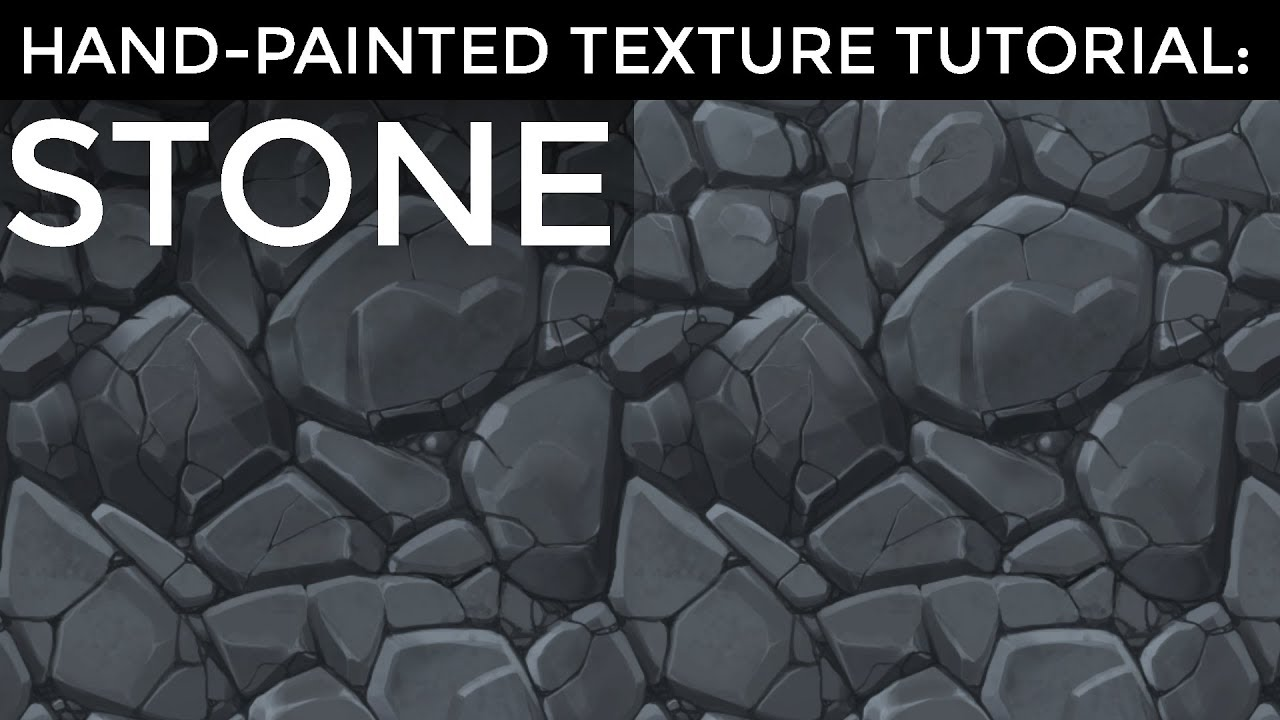 Hand Painted Texture Tutorial Stone