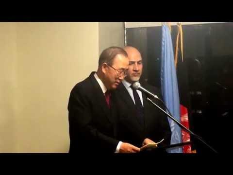 SG Ban Ki-moon Speech