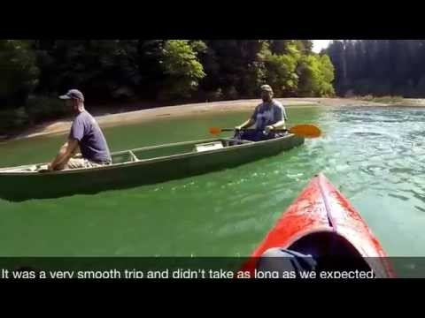 Canoe trip on South Fork of the Eel River, Humboldt county, California