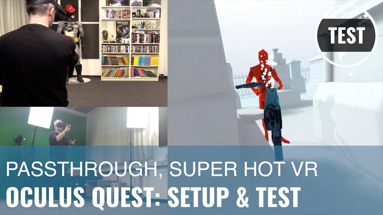 Oculus Quest: Unboxing, Setup, Test (inkl  Passthrough-Modus!) (German)