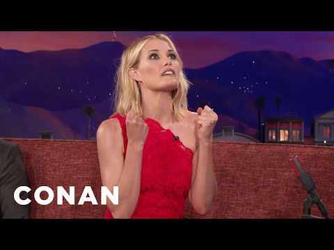 Leslie Bibb Is An Extremely Physical Person   CONAN on TBS
