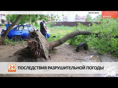 Последствия разрушительной погоды.
