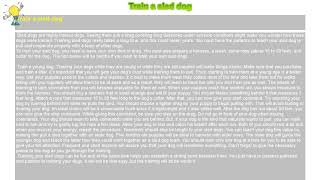 How to : Train a sled dog