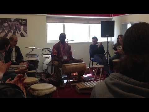 Noah Messomo meets Fareham Music musicians