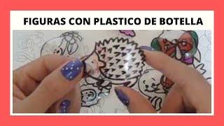 DIBUJOS EN PLASTICO DE BOTELLA/ PARA DECORAR O REGALAR/ PARA PONER EN UNA COLOMBINA