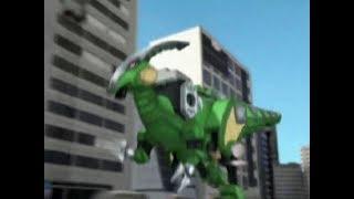 Power Ranger Dino Trueno | Parasaurzord - Batalla Megazord