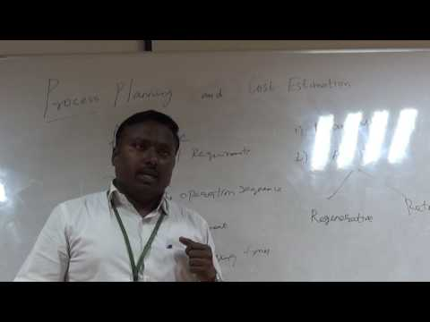 MANUFACTURING PROCESS PLANNING by Dr KKPadmanabhan