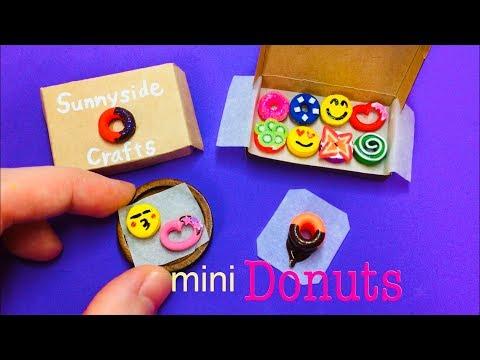 DIY Miniature Donuts - Balloons Tutorial ~no Polymer Clay