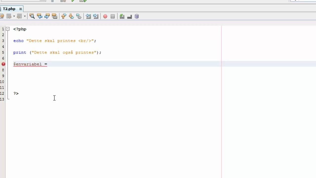 PHP kursus /  tutorials for begyndere #2 Echo / print og variabler i PHP