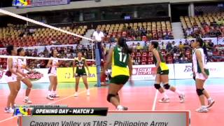 Cagayan Valley Lady Rising Suns vs TMS - Philippine Army Lady Troopers Highlights