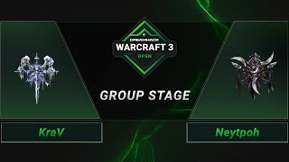 WC3 - KraV vs. Neytpoh - Groupstage - DreamHack WarCraft 3 Open: Summer 2021 - Europe