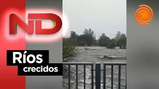 El río Mina Clavero se desbordó y hay evacuados