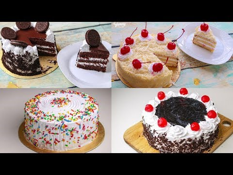 4 Easy Birthday Cake Recipe Without Oven | Yummy