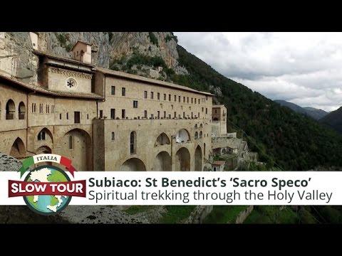 """St Benedict's """"Sacro Speco"""" (Holy Cave)   Italia Slow Tour"""