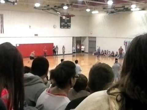 Webb City Junior High School student vs. faculty dodge ball tournament