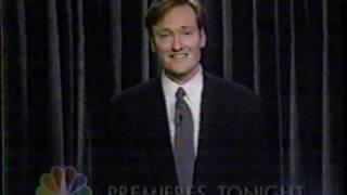 Conan O'Brien premiere Late Night episode TV spot 1993 promo