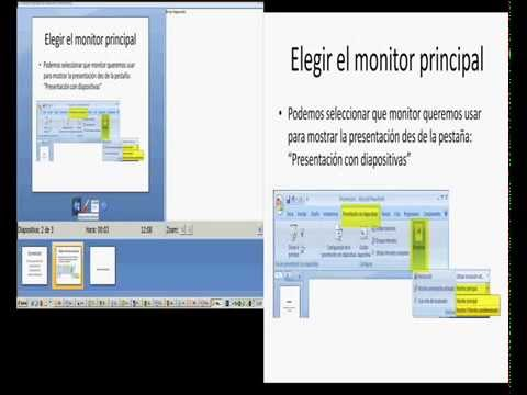como proyectar una presentación powerpoint al monitor deseado youtube